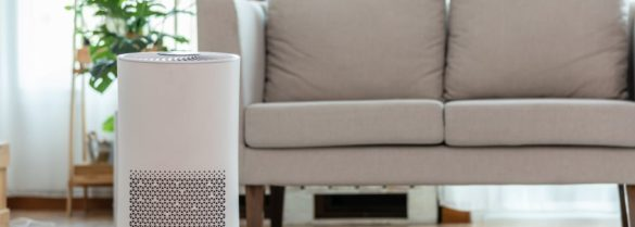 Air purifier in cozy white Living room