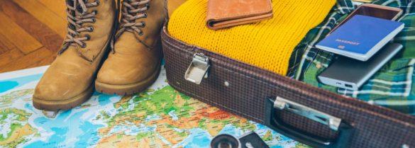 power bank bag and map